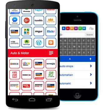 Kadaza Mobile Startseite